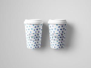 7个咖啡纸杯设计图PSD样机模板 7 PSD Coffee Cup Mockups插图8