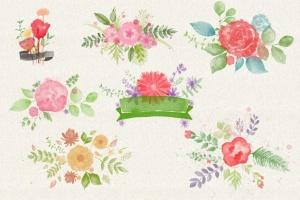 水彩花卉PS印章画笔笔刷 Floral Watercolor PS Stamp Brushes插图(10)