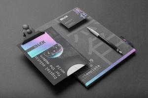 高端黑办公用品套装品牌VI设计效果图样机 Blck Branding Mockup Kit插图8