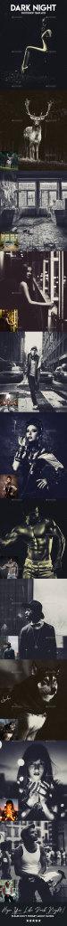 照片暗夜效果处理的PS图层样式 Dark Night Photoshop Templates [psd]插图
