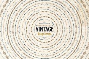 复古装饰元素AI笔刷+PS图形 Ornamental Vintage Design Elements插图2