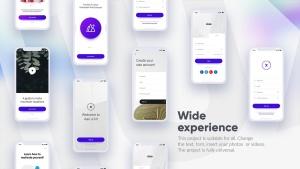 APP应用UI界面设计效果图预览白色iPhone手机样机套装 White iPhone Mockup插图4