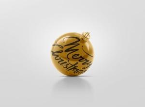 闪闪发光圣诞装饰球样机模板 Glitter Christmas Ball Mockup插图9