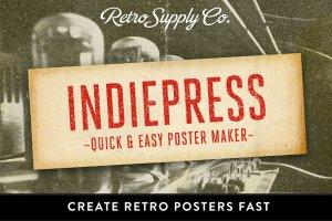时尚海报制作图层样式 IndiePress – Quick Poster Maker插图1