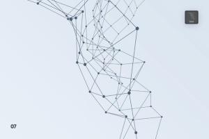 带连接线粒子抽象图形PS笔刷 Particles with Connected Lines Photoshop Brushes插图8