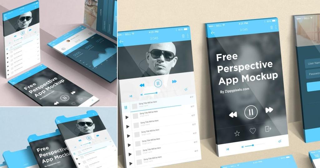 iOS应用用户界面设计效果图样机模板 iOS Perspective Mockups插图