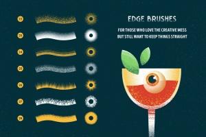 用于Illustrator的复古明暗效果纹理&噪点笔刷 Shader Brushes for Illustrator插图(6)