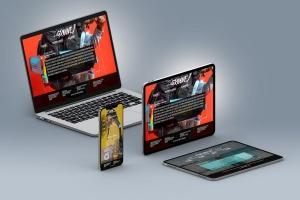 超高分辨率等距多设备响应式设计预览样机PSD模板 Isometric Multi-Device PSD Mock-ups 2019插图2