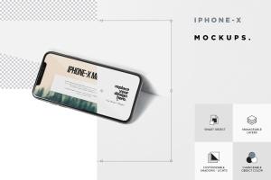 iPhone X智能手机多角度屏幕预览样机模板 iPhone X Mockup插图8