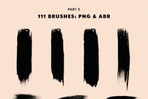 111个非凡令人着迷的PS画笔笔刷 Swirls & Strokes Brushes Set插图8