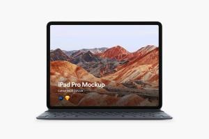 带便携蓝牙键盘iPad Pro平板电脑样机模板 iPad Pro 2018 Mockup插图3