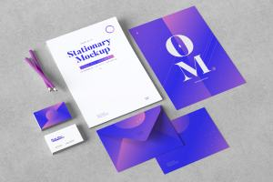 企业品牌VI设计办公用品套装样机01 Stationery Mockup 01插图2