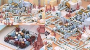 3D建模圣诞节主题概念工厂场景PNG素材 Christmas Factory插图4