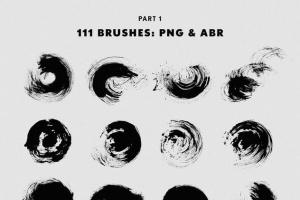 111个非凡令人着迷的PS画笔笔刷 Swirls & Strokes Brushes Set插图2