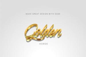 3D金属质感字体特效AI图层样式 Metallic Styles for Illustrator插图5