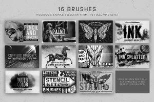 素描/水彩/油画Procreate专用笔刷 Procreate Brushes Starter Kit插图(4)