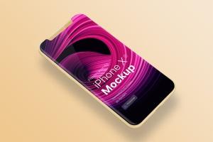 五种颜色iPhone XS手机APP设计效果图预览样机 iPhone XS app mobile Mock-Up插图3