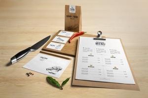 高端美食餐厅品牌展示样机 Restaurant Food Mockup插图9