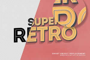 复古设计风格3D立体字体样式PSD分层模板v7 Vintage Text Effects Vol.7插图2