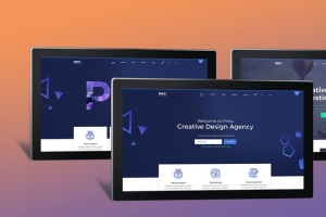 网页设计等距平板电脑屏幕样机 Isometric Screen Mockup插图7