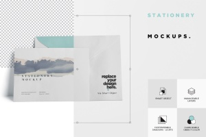 常用办公用品样机模板 Stationery Mock Ups插图6