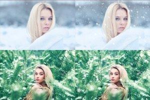 20款圣诞节、冬季雪花笔刷合集  20 Snowflake brushes插图2