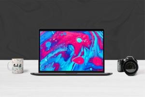 超极本电脑前视图样机模板 Laptop Mockups插图2