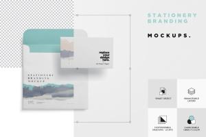 办公用品套装品牌VI设计预览样机模板 Stationery Branding Mockups插图5