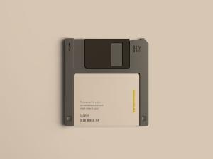 古董软盘外观设计样机模板 Floppy Disk Mockup插图2