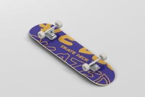 极限运动滑板图案设计样机 Skateboard Mockup插图6