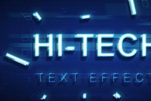 炫酷平滑3D高科技效果PS字体样式 TECHNOLOGY TEXT EFFECT插图4