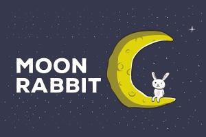 月亮兔子矢量插画设计素材 Moon Rabbit Vector Illustration Artwork插图1