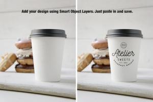 咖啡甜品牌样机模板 Coffee Doughnut Mockup插图8