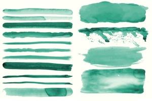 94种水彩艺术图案AI笔刷 Watercolor Vector Art Brushes插图4