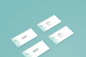 企业品牌办公用品样机模板 Branding Identity Mock Up – Teal Tirangles插图10