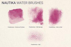 手绘插画概念艺术家Procreate笔刷[水墨/马克笔/水彩] Nautika – Brush Pack for Procreate插图(5)