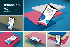 iPhone XS智能手机UI设计预览样机V2 iPhone XS V.2插图1