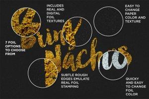 烫金金箔纹理&图层样式 Hot Foil | Foil Stamping Machine插图3