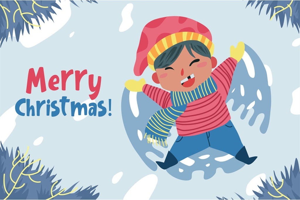 圣诞节主题矢量手绘设计图形素材 Merry Christmas – Vector Illustration插图