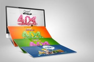 Web设计桌面电脑屏幕演示样机模板 Desktop Mock-Up插图5