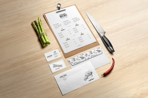 高端美食餐厅品牌展示样机 Restaurant Food Mockup插图4