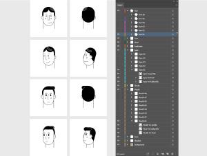 一流设计素材网下午茶:个性的生活场景插画素材下载[Ai]插图3