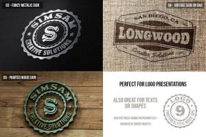 多应用场景复古品牌Logo设计样机模板 Photorealistic Logo Mock-Ups Vol.2插图3
