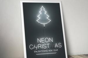 圣诞主题风格霓虹灯图层样式 Neon Christmas Layer Style插图5