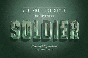 复古条纹风格文本图层样式 Vintage / Retro Text Styles插图5