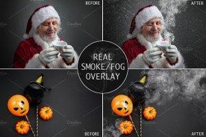 烟雾萦绕效果图层样式 Real Smoke-Fog overlay collection插图1