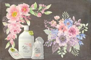 8套水彩花卉手绘图案剪贴画PNG素材 I Set of 8 Watercolor Clip Art Sprays I插图4