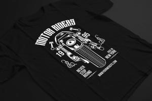 摩托车骑手手绘插画T恤印花设计模板 Motorcycle Riders T shirt Design Template插图3