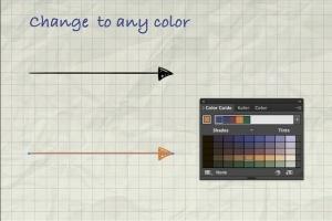 箭头图形插画艺术AI笔刷 Illustrator Arrow-Shaped Art Brushes插图5