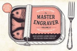 雕刻画设计AI笔刷下载 The Master Engraver – Brushes插图(1)